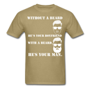 Without A Beard T-Shirt - BeardedMoney