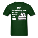 WTF For a Bearded Man Mean's T-Shirt - bearded-money