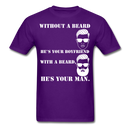 Without A Beard T-Shirt - bearded-money