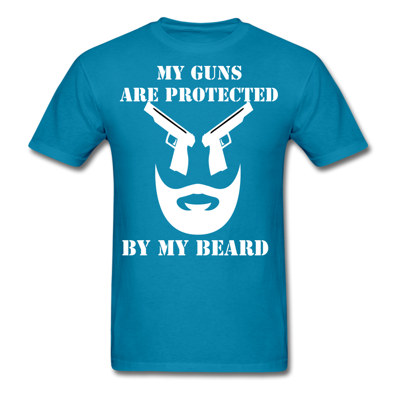 My Guns Are Protected By My Beard T-Shirt - bearded-money