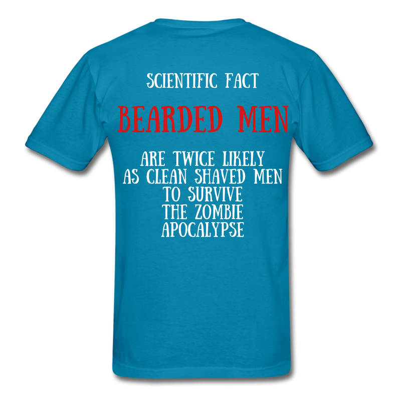 Scientific Fact Beaded Men T-Shirt - BeardedMoney