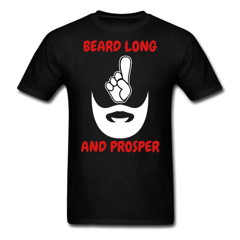 Beard Long And Prosper T-Shirt - bearded-money