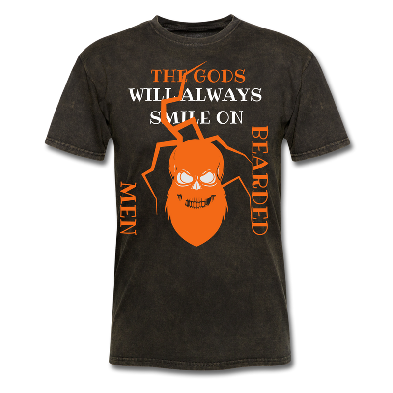 The Gods Will Always Smile On Bearded Men T-Shirt - bearded-money