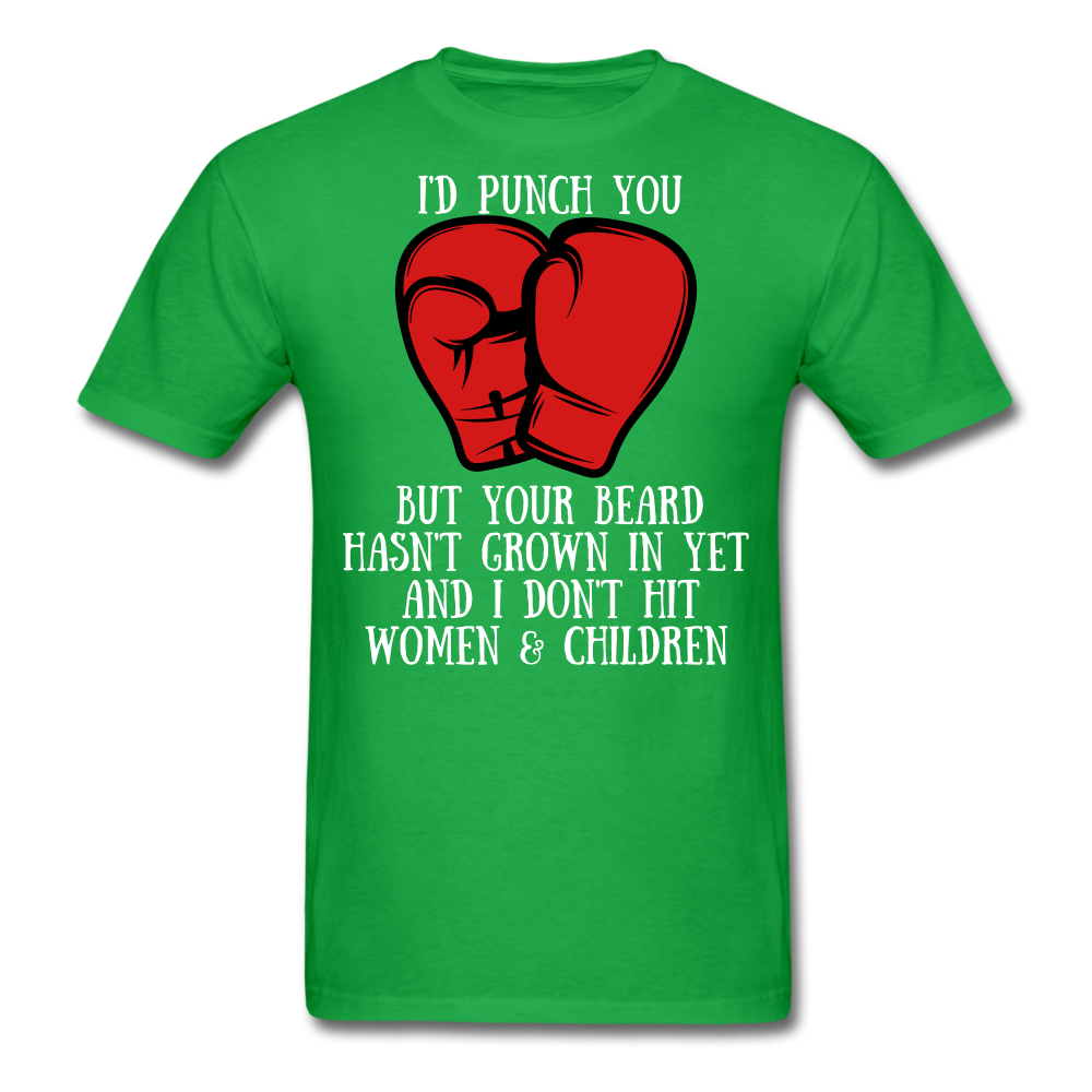 I'D Punch You T-Shirt - bearded-money