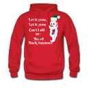 Let It Grow, Let It Grow Can't Hold My Beard Men's Hoodie - red