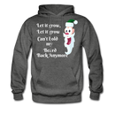 Let It Grow, Let It Grow Can't Hold My Beard Men's Hoodie - charcoal gray