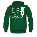 Let It Grow, Let It Grow Can't Hold My Beard Men's Hoodie - forest green