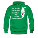 Let It Grow, Let It Grow Can't Hold My Beard Men's Hoodie - kelly green