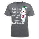 Let It Grow, Let It Grow Men's T-Shirt - mineral charcoal gray