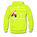 I am Like Santa Nice Beard On Top Men's Hoodie - safety green