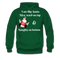 I am Like Santa Nice Beard On Top Men's Hoodie - forest green