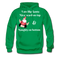 I am Like Santa Nice Beard On Top Men's Hoodie - kelly green