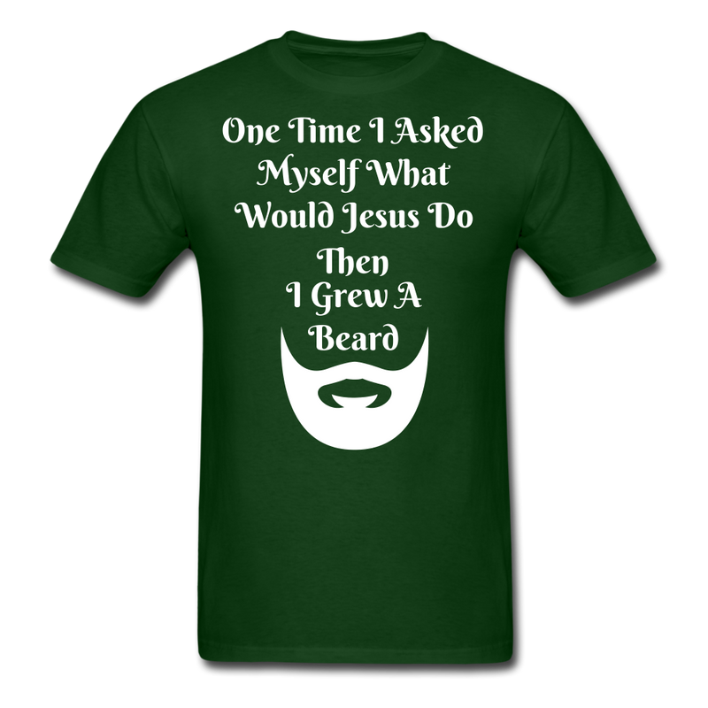 One Time, I asked Myself What Would Jesus Do Men's T-Shirt - BeardedMoney