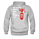 She Likes My Tractor Dirty And My Beard Sexy Men's Hoodie - heather gray
