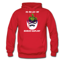 Do You Like My Bearded Eggplant Men's Hoodie - red