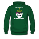 Do You Like My Bearded Eggplant Men's Hoodie - forest green