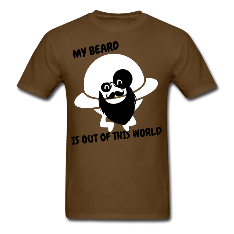 My Beard Is Out Of This World Men's T-Shirt - brown