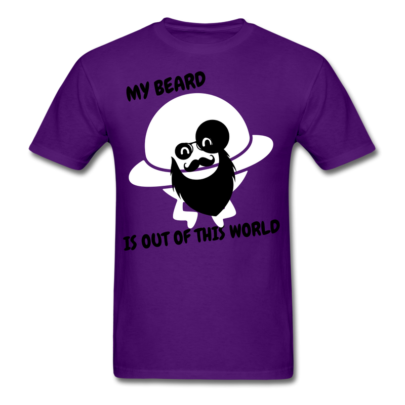 My Beard Is Out Of This World Men's T-Shirt - purple