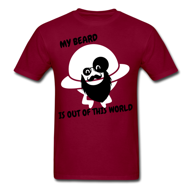 My Beard Is Out Of This World Men's T-Shirt - burgundy