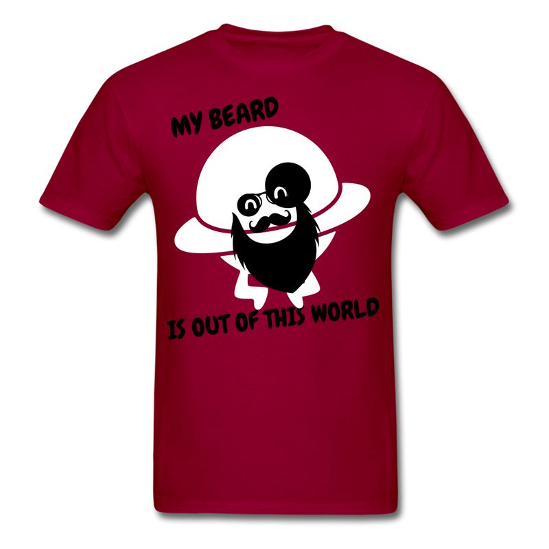 My Beard Is Out Of This World Men's T-Shirt - dark red