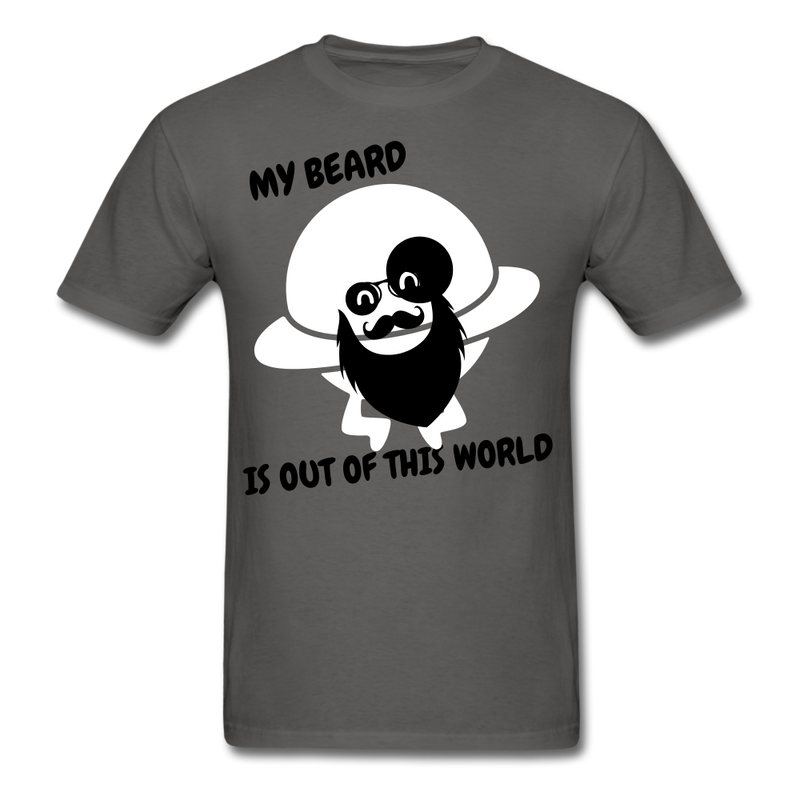 My Beard Is Out Of This World Men's T-Shirt - charcoal