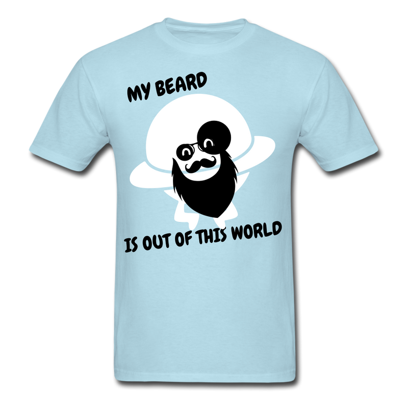 My Beard Is Out Of This World Men's T-Shirt - powder blue