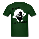 My Beard Is Out Of This World Men's T-Shirt - forest green