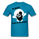 My Beard Is Out Of This World Men's T-Shirt - turquoise