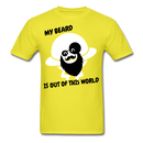 My Beard Is Out Of This World Men's T-Shirt - yellow