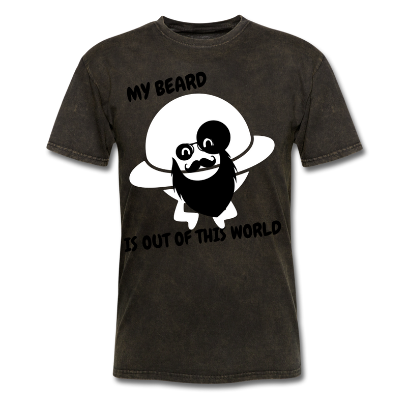 My Beard Is Out Of This World Men's T-Shirt - mineral black