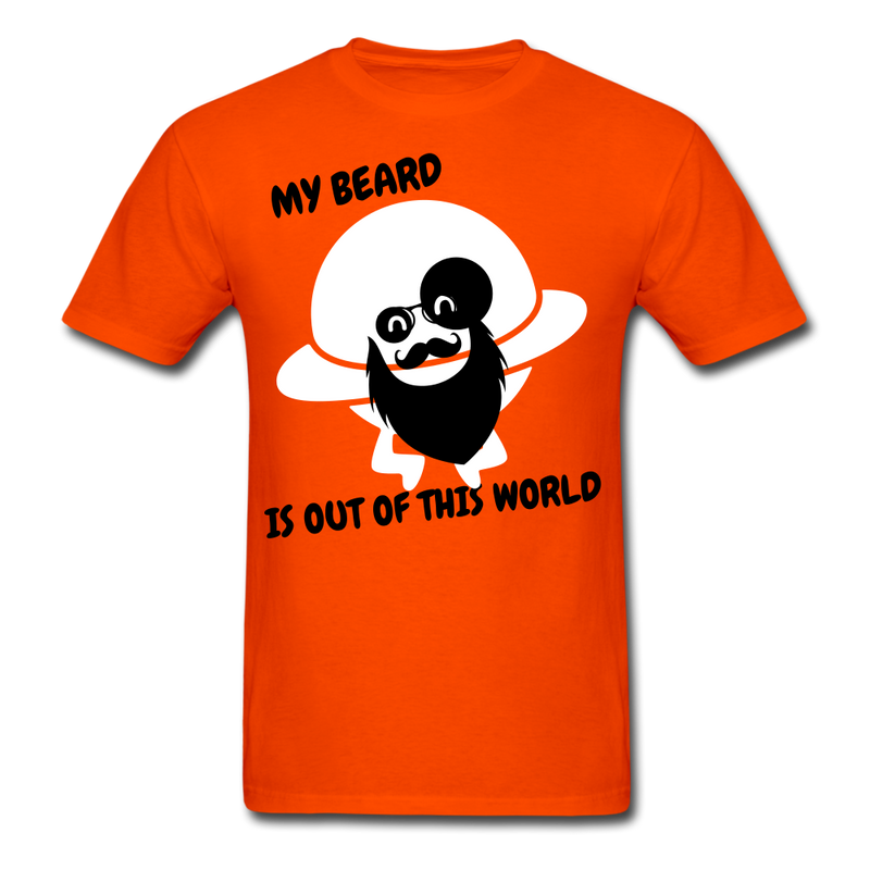 My Beard Is Out Of This World Men's T-Shirt - orange