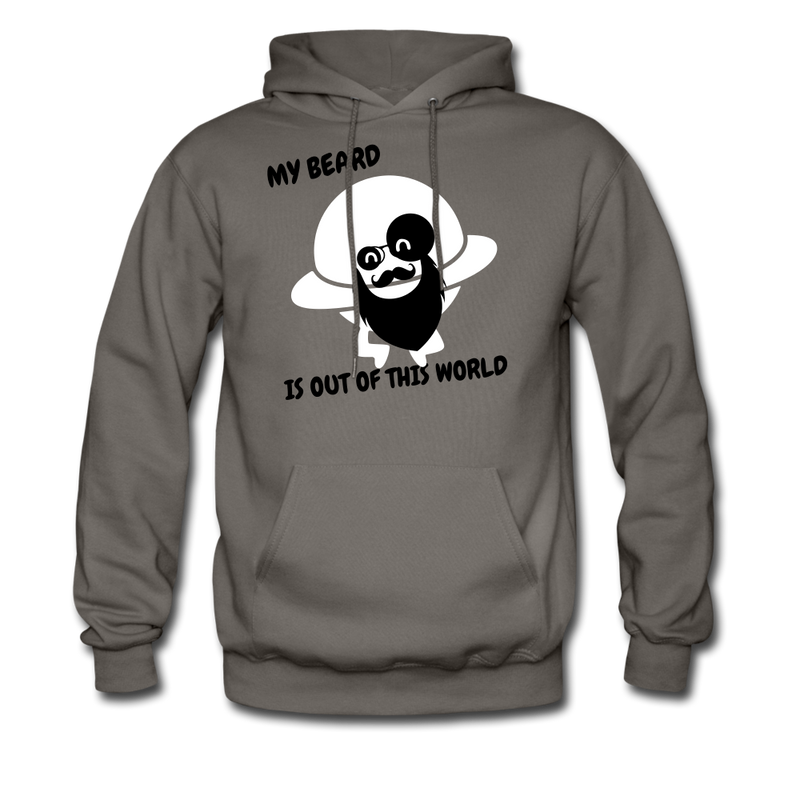 My Beard Is Out Of This World Men's Hoodie - asphalt gray