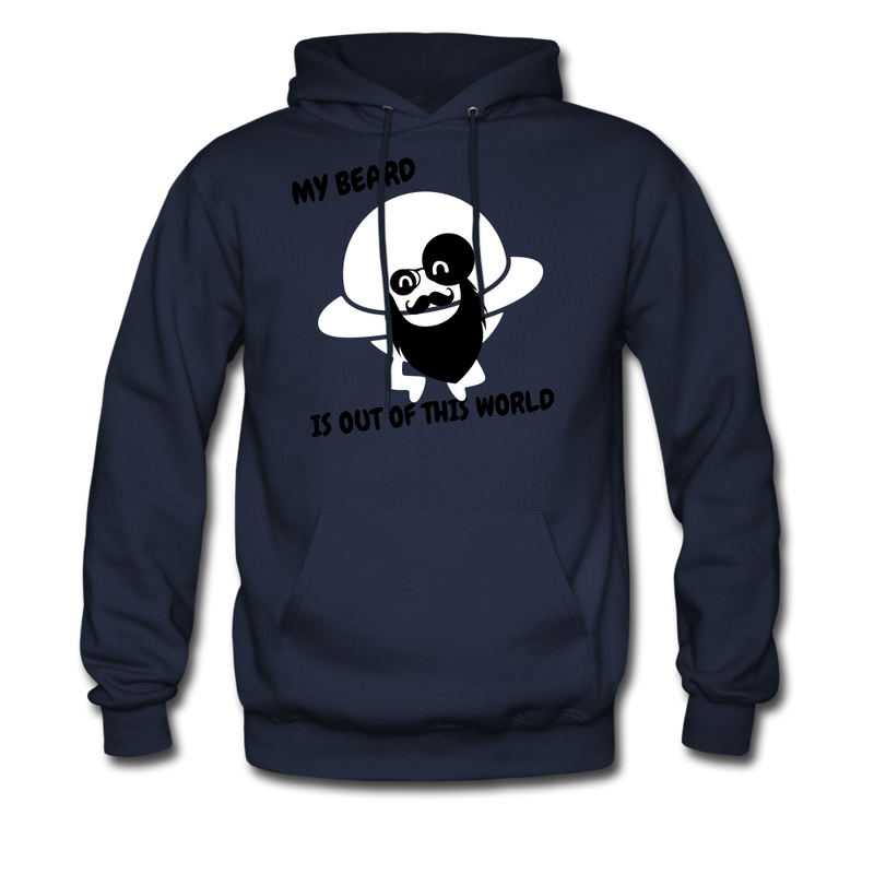 My Beard Is Out Of This World Men's Hoodie - navy