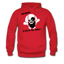My Beard Is Out Of This World Men's Hoodie - red