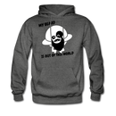 My Beard Is Out Of This World Men's Hoodie - charcoal gray