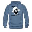 My Beard Is Out Of This World Men's Hoodie - denim blue