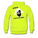My Beard Is Out Of This World Men's Hoodie - safety green