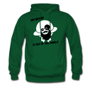 My Beard Is Out Of This World Men's Hoodie - forest green