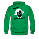 My Beard Is Out Of This World Men's Hoodie - kelly green