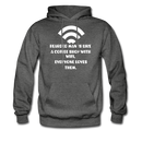 Bearded Man Is Like A Coffee Shop With WIFI Men's Hoodie - charcoal gray