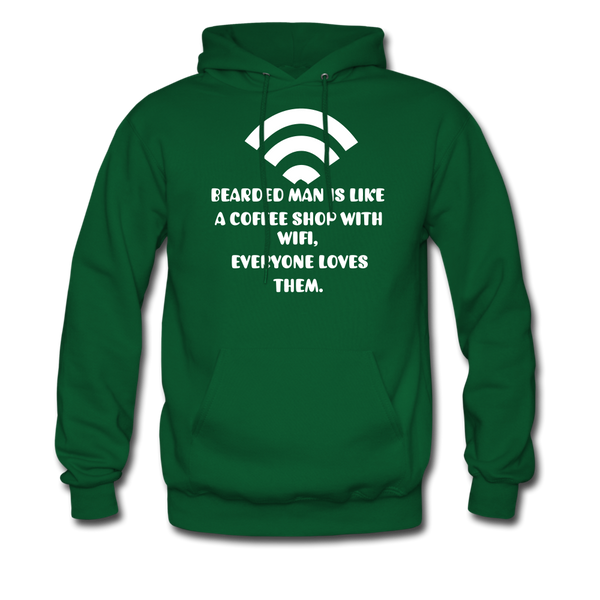 Bearded Man Is Like A Coffee Shop With WIFI Men's Hoodie - BeardedMoney