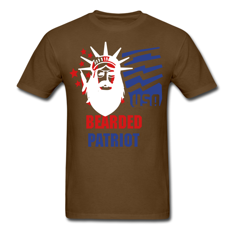 Bearded Patriot Men's T-Shirt - brown