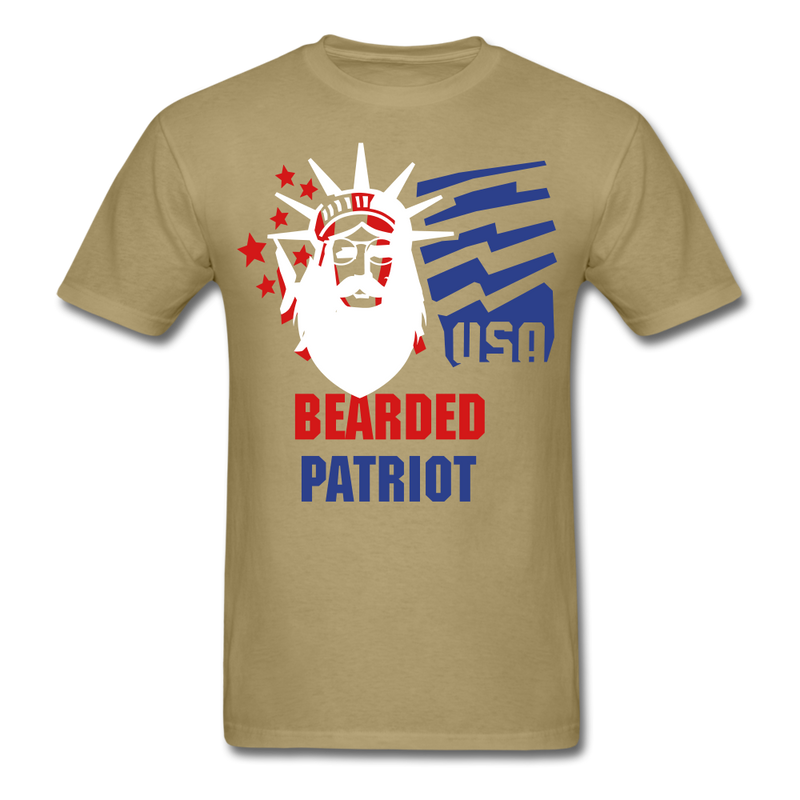 Bearded Patriot Men's T-Shirt - khaki