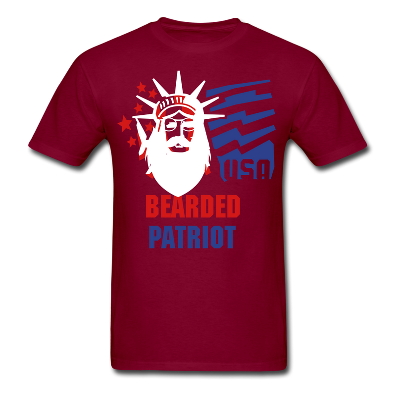 Bearded Patriot Men's T-Shirt - burgundy