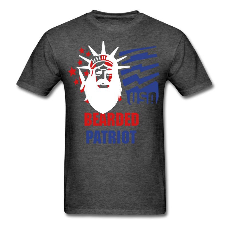 Bearded Patriot Men's T-Shirt - heather black