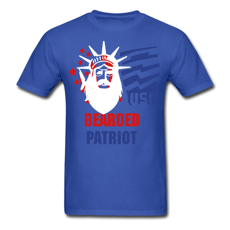 Bearded Patriot Men's T-Shirt - royal blue