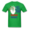 Bearded Patriot Men's T-Shirt - bright green
