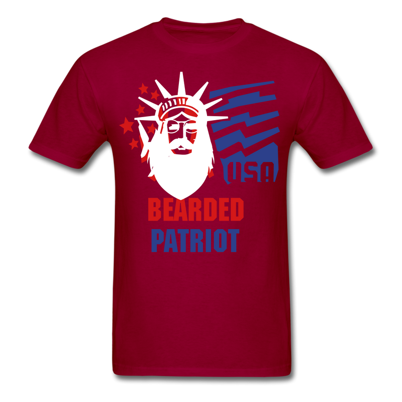 Bearded Patriot Men's T-Shirt - dark red