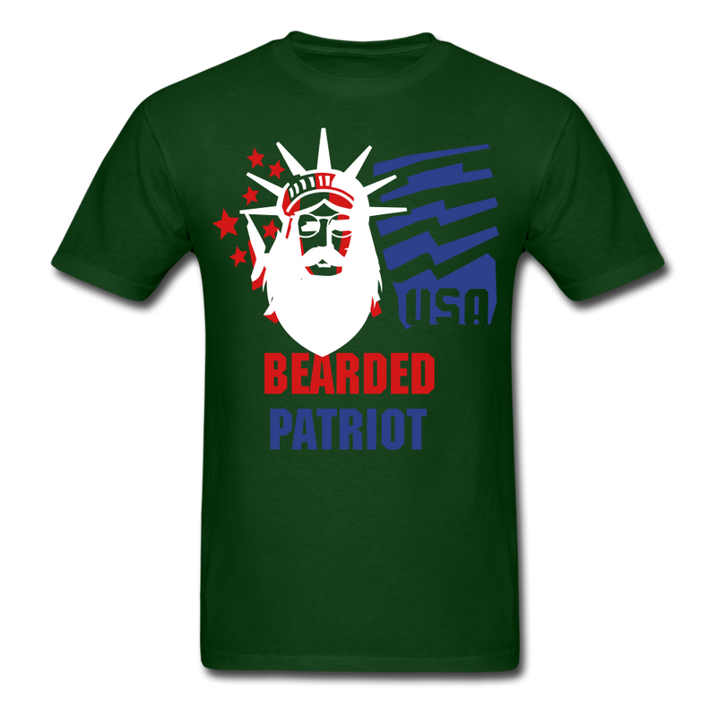 Bearded Patriot Men's T-Shirt - forest green