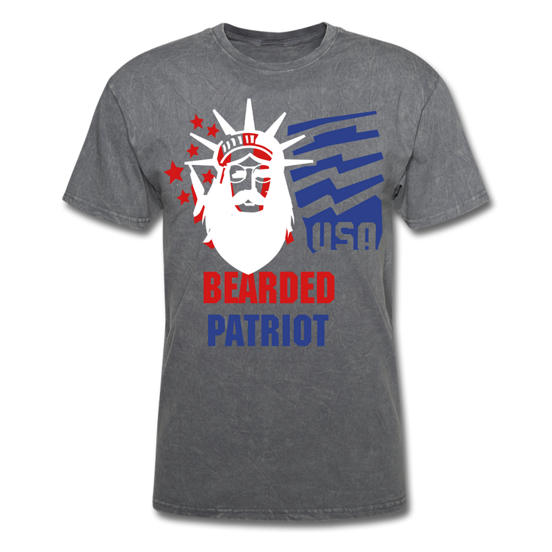 Bearded Patriot Men's T-Shirt - mineral charcoal gray